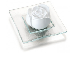 Aroma Stone, rose ceramic with trivet