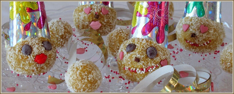 Carnival dessert balls with coconut and orange