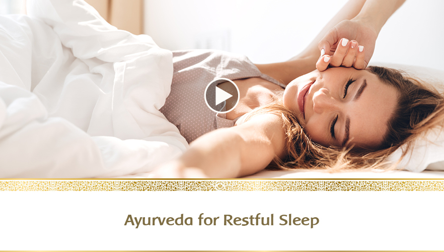 YouTube Webinar: Ayurveda for restful sleep